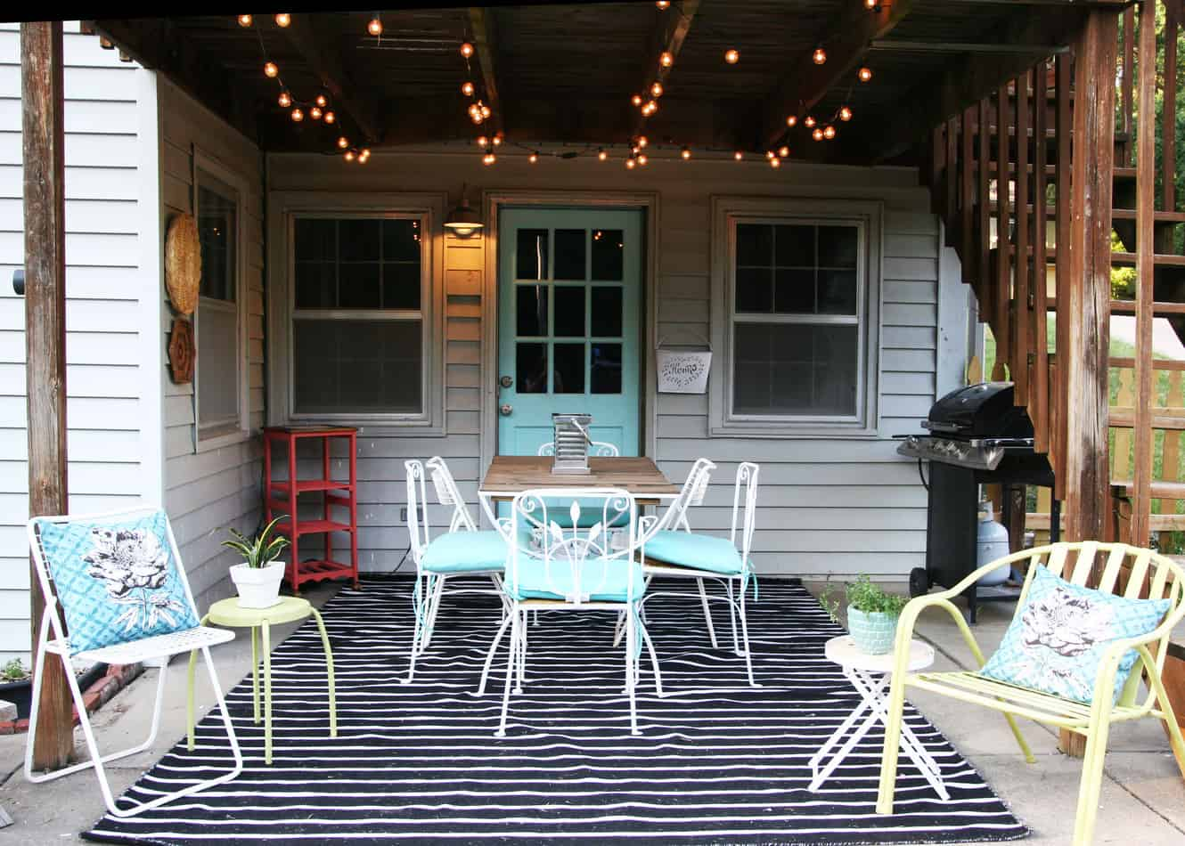 Patio Makeover On A Budget. Lots Of DIY Projects!
