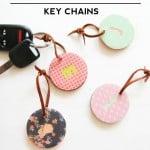 DIY Monogrammed Key Chains