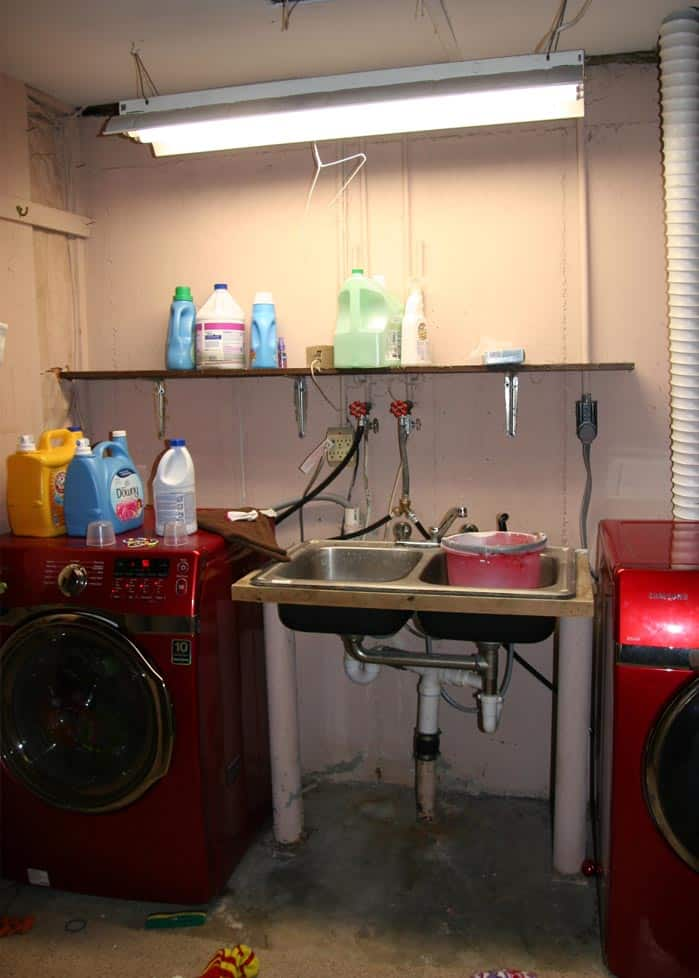 Basement Laundry Room Makeover Transform Your Unfinished With A Tiny Budget Using