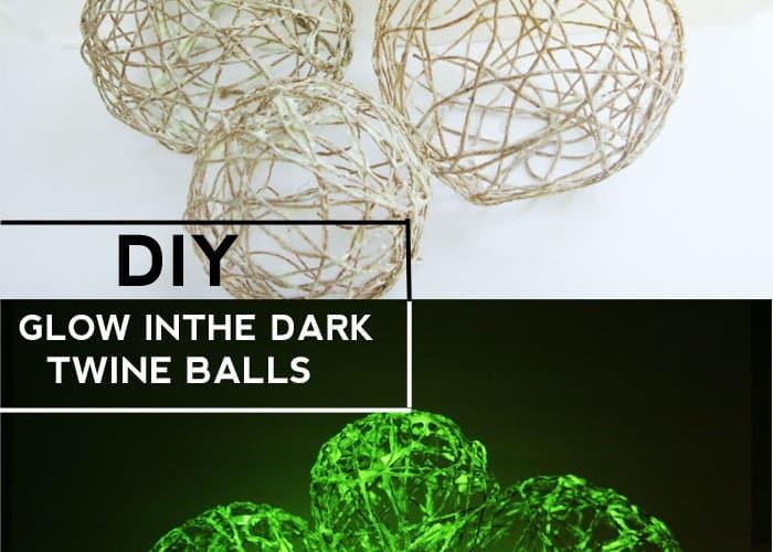 DIY Glow In The Dark Twine Balls