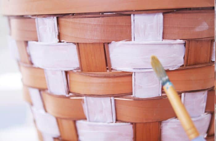Spruce up some thrifted finds with this DIY tribal painted basket tutorial.