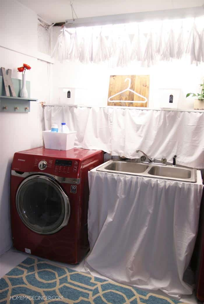 Perfect Basement Laundry Room Makeover Transform Your Unfinished With A Tiny Budget
