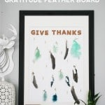 Thanksgiving Craft: Gratitude Feather Board
