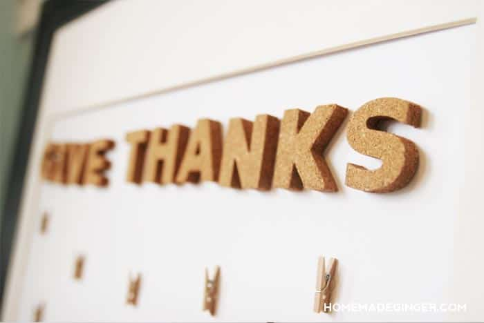 Make a gratitude feather board for an easy and beautiful Thanksgiving craft that engages the family!