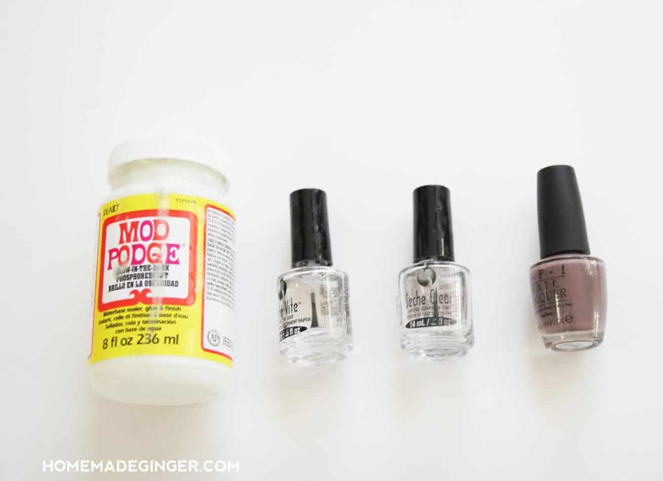 Nail Design: Glow In The Dark Nail Polish - Homemade Ginger