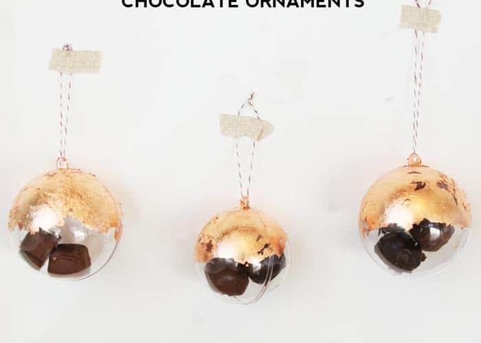 DIY Christmas Ornaments : Copper Leaf