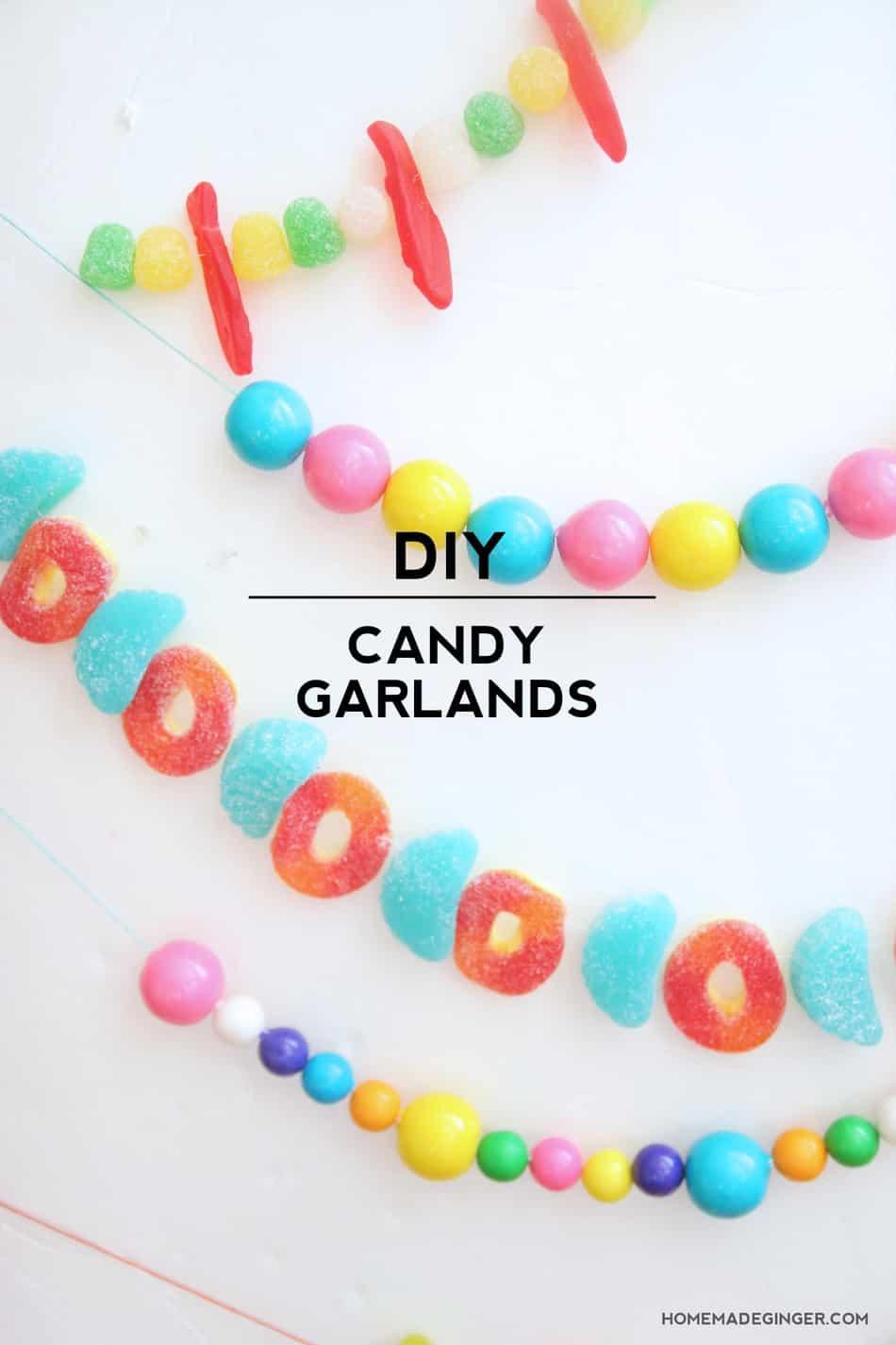 Diy Candy Garlands Homemadeginger