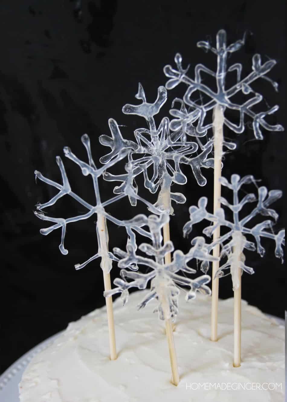 Snowflake Cake Decoration Homemade Ginger