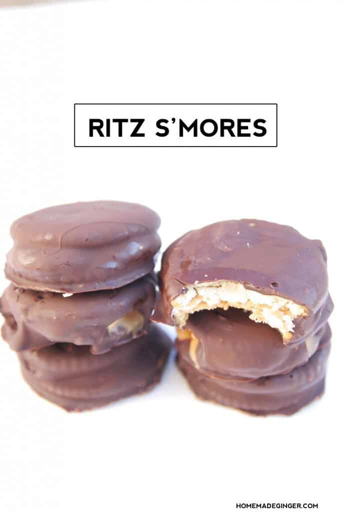This is BEST and easiest S'mores inspired recipe around! These Ritz s'mores cookies are beyond yummy and couldn't be easier to make.