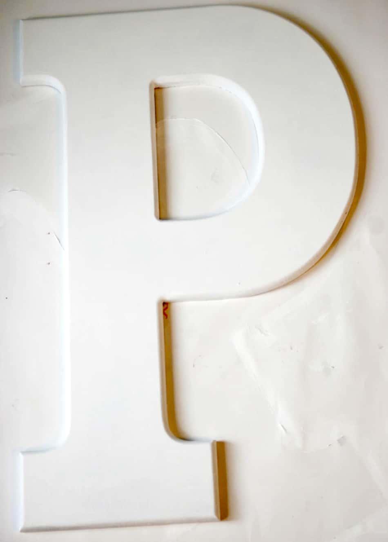 DIY Wall Art: Confetti Letter - Homemade Ginger