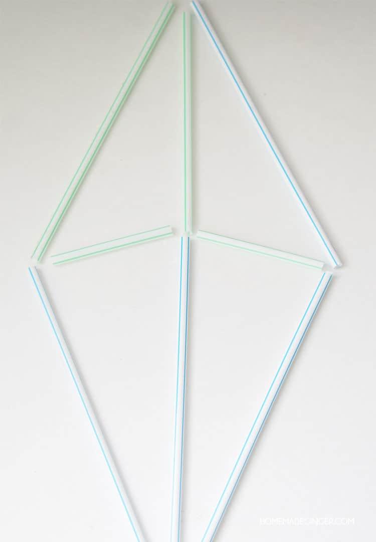 diy wall art geometric straw shapes homemade ginger. Black Bedroom Furniture Sets. Home Design Ideas