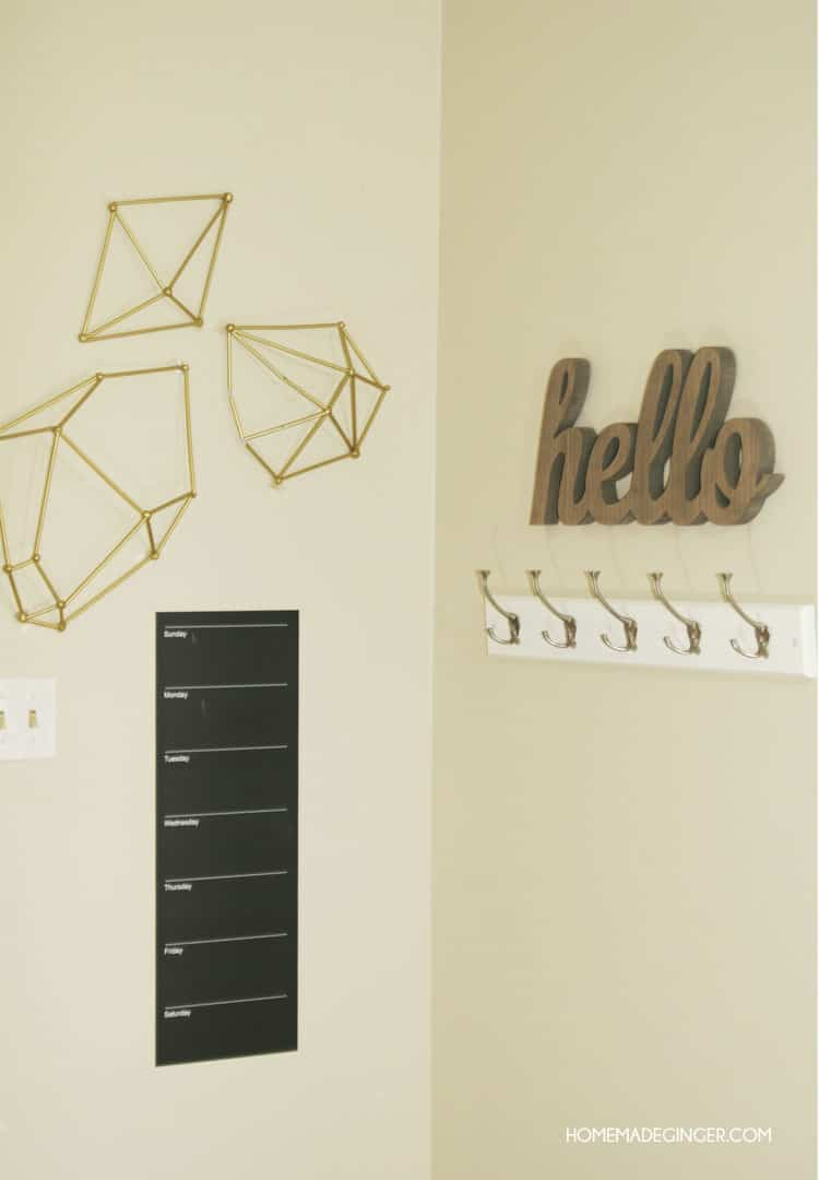 Diy Wall Art Geometric Straw Shapes Homemade Ginger