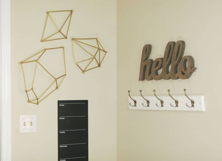 Geometric Wall Art diy wall art : geometric straw shapes - homemade ginger