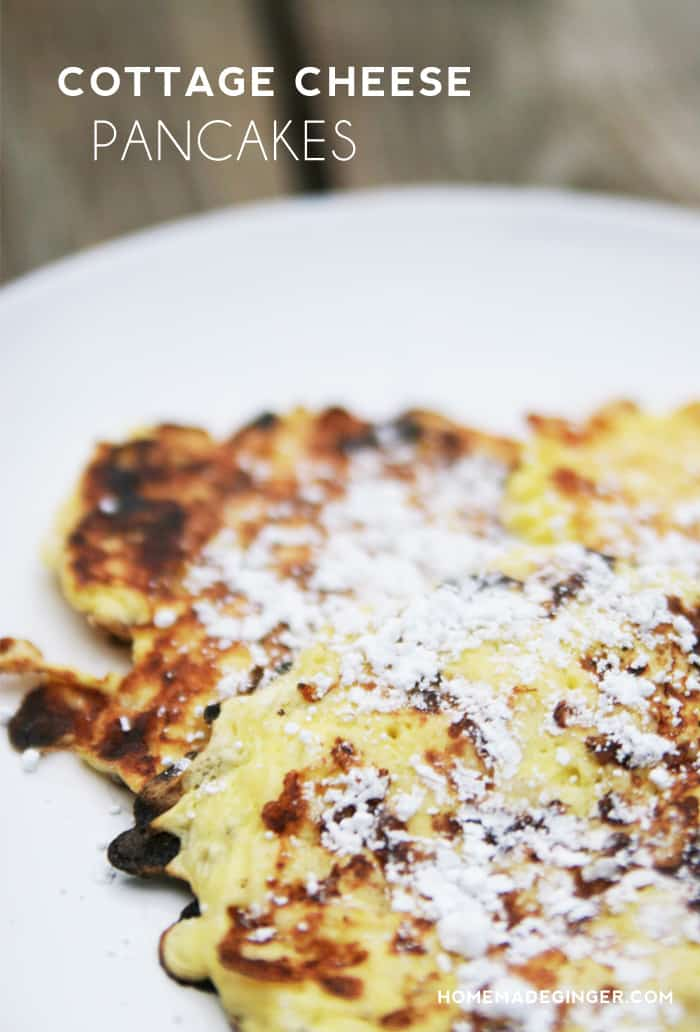 Cottage Cheese Pancakes - Homemade Ginger