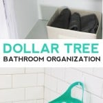 Dollar Tree Bathroom Organization