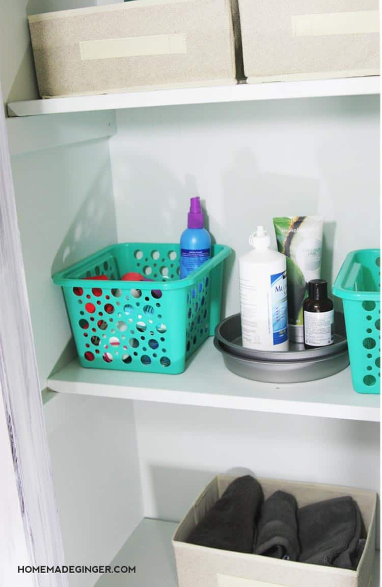 Dollar Tree Bathroom Organization - Homemade Ginger
