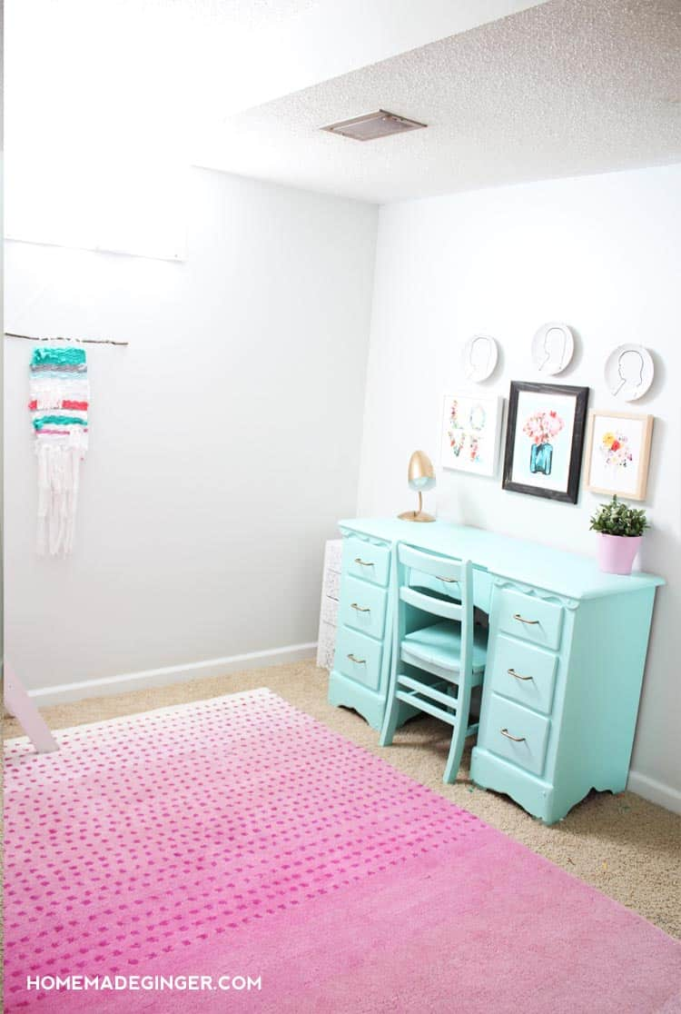 Lots of DIY Room Decor projects went into this dramatic shared kids  room  makeover. Girls Bedroom Reveal  DIY Room Decor   Homemade Ginger