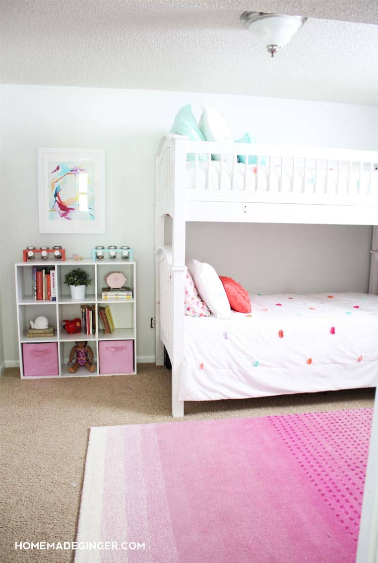 Lots Of DIY Room Decor Projects Went Into This Dramatic Shared Kidsu0027 Room  Makeover!