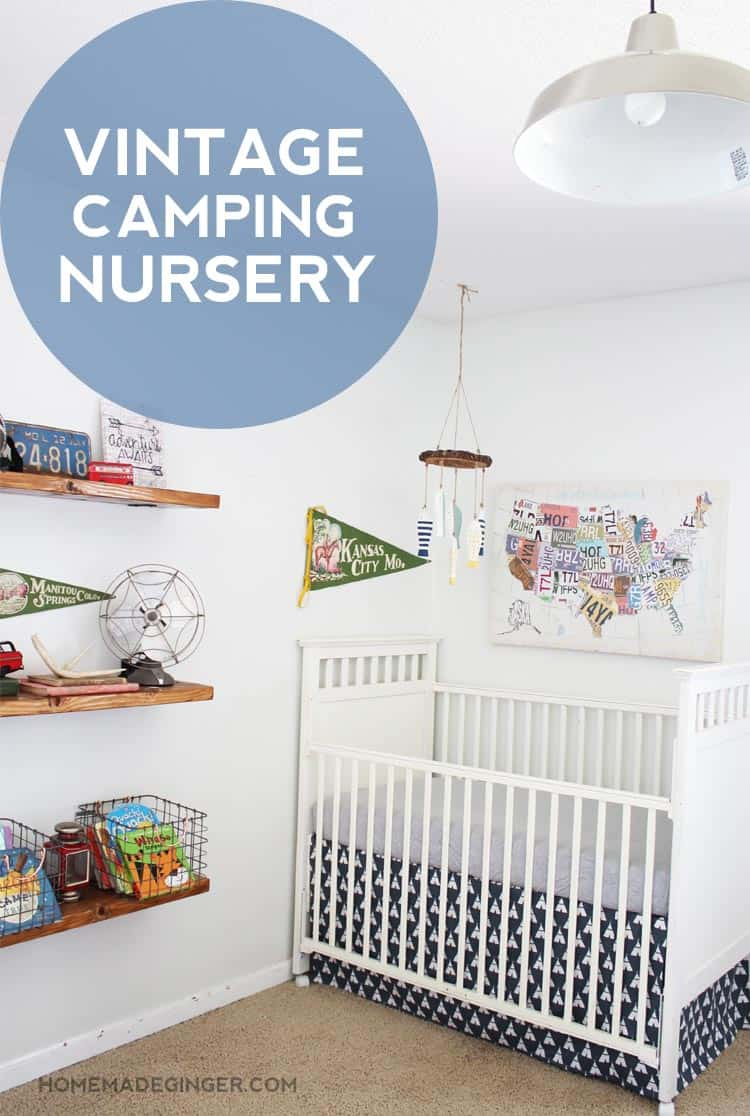 A Vintage Camping Themed Baby Boy Nursery Full Of Money Saving DIY Projects  And Tips!