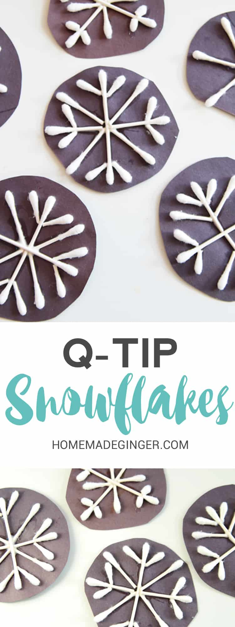 These q-tip snowflakes are ADORABLE and the perfect snowflake craft for kids of all ages!