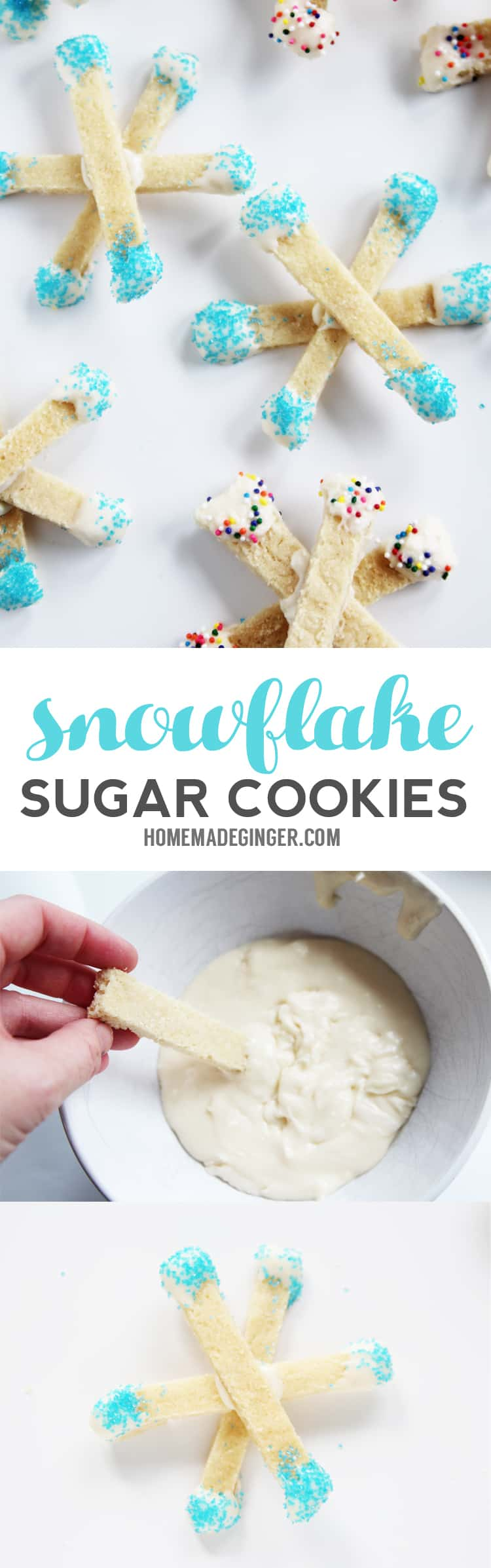 These snowflake cookies are SO EASY to make and the perfect edible snowflake craft for kids to make!