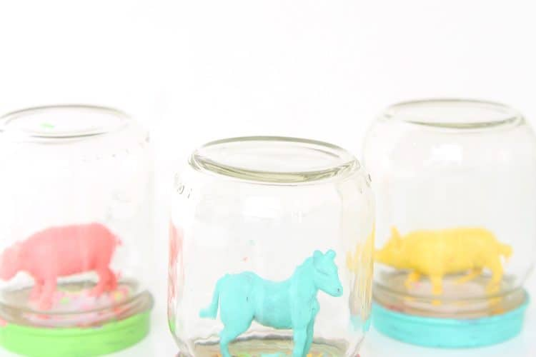 Animal Confetti Globes