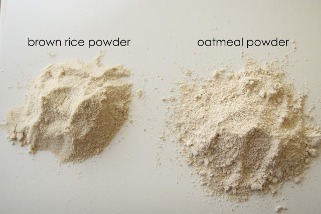 You can make your own homemade baby cereal! It's full of whole grains and saves a ton of money!