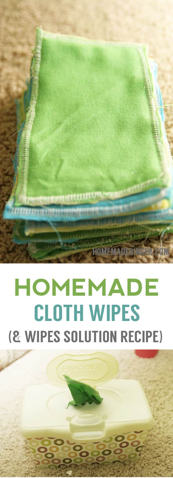 Whip up some homemade baby wipes that can be used over and over again! They are safe for baby, will save you a ton of money and better for the environment!