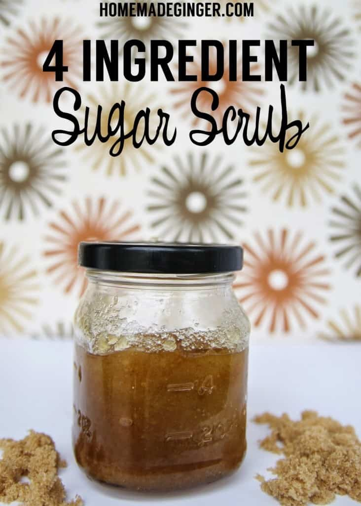 Whip up this easy 4 ingredient sugar scrub. Great for a DIY gift idea!