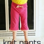 Repurposing Day 17: knit pant refashion tutorial