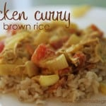 RECIPE: Chicken Curry with Brown Rice