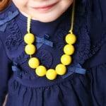 TUTORIAL: DIY Girl's Wooden Bead Necklace
