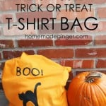 Repurposed Trick or Treat T-Shirt Bag