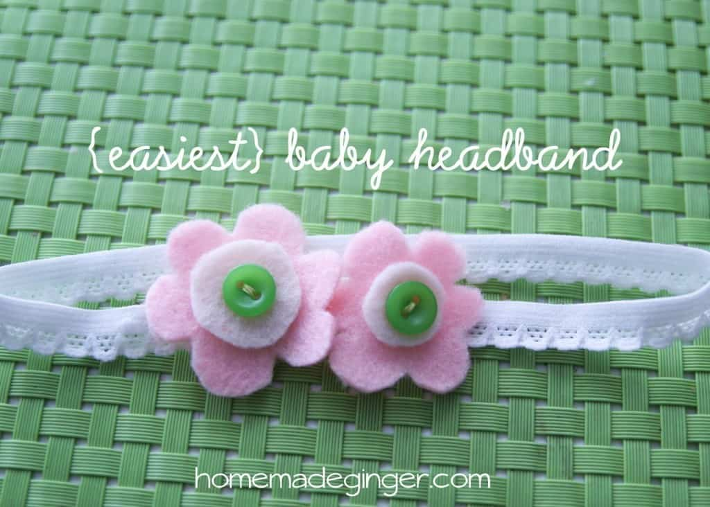 If you are wondering how to make a headband, look no further! This is the EASIEST method and it's simply adorable!
