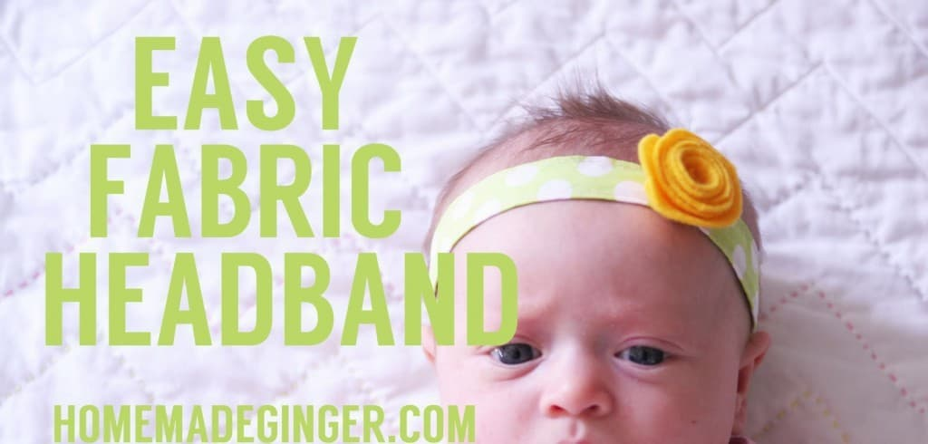 My favorite DIY headband to make for baby girls! SO adorable and easy to whip up in a minute!