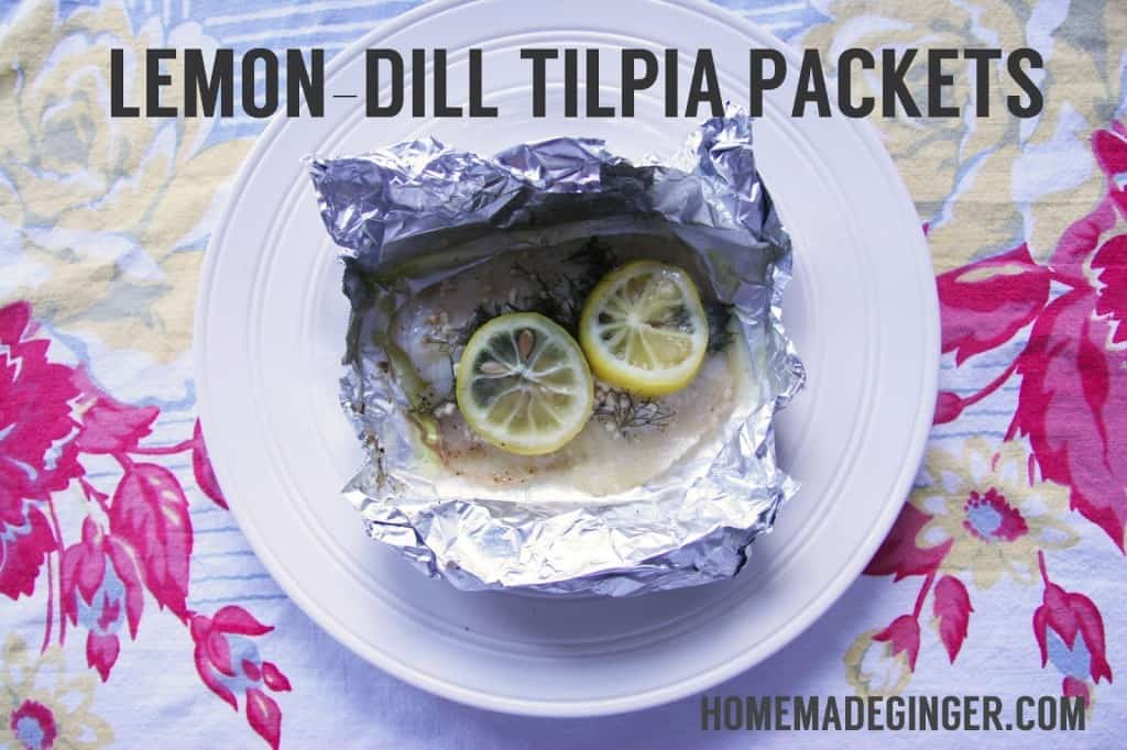This is the easiest tilapia recipe you will find on Pinterest! Make some lemon dill tilapia packets for an easy and fresh dinner!