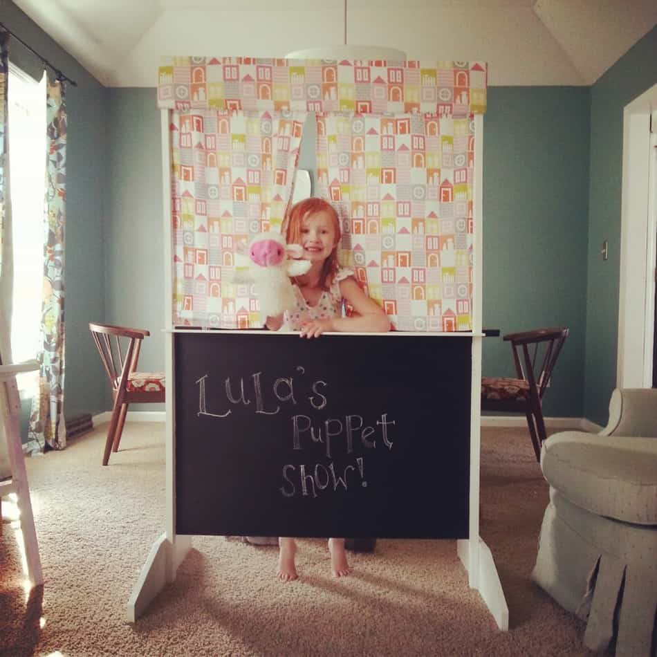 For the kid that loves puppet shows, make your own puppet theater to have at home! It is so simple and would make a sweet birthday gift.