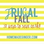 New Series: Frugal Fall