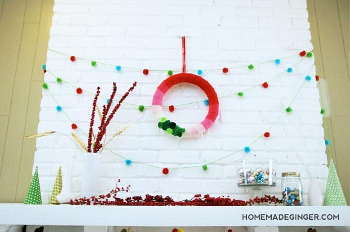 For some modern Christmas decoration ideas, find out how to make a cheery mantle with lots of easy DIY projects!