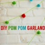 TUTORIAL: DIY Pom Pom Garland