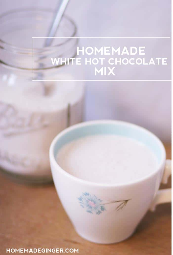 Whip up some of THE BEST homemade white hot chocolate mix. It's absolutely delicious and makes a great gift!