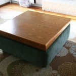 Turn an Ugly Coffee Table into an DIY Ottoman