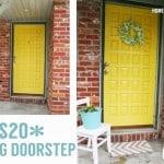 $20 DIY Spring Doorstep Makeover