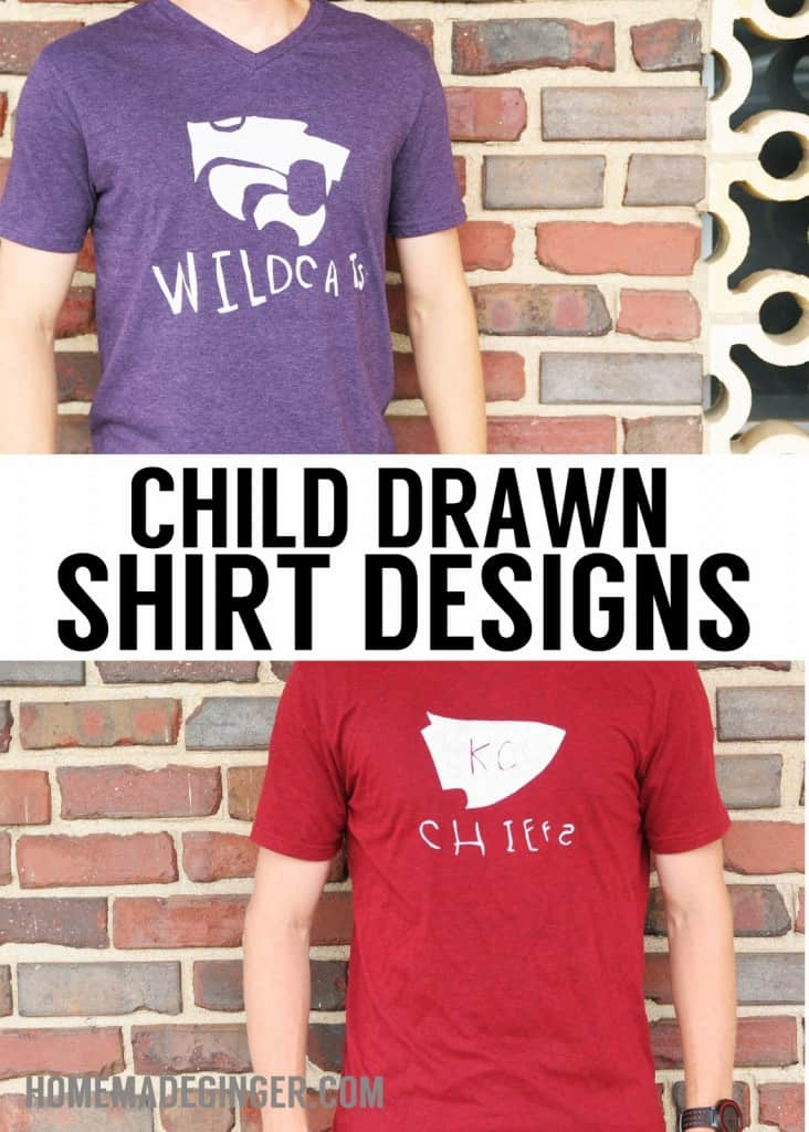 Follow this tutorial for the easiest way to turn a child's drawing into a tee.  You won't need any printers or fancy equipment to make one of these fabulous shirts!