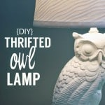 DIY Thrifted Owl Lamp