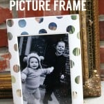 TUTORIAL: DIY Silver Dot Picture Frame