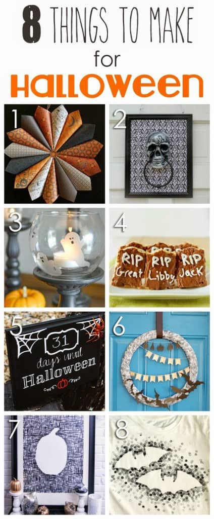 8 different crafts to make for halloween