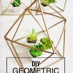 How To Make DIY Geometric Planters for Under $5