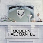 A Modern Fall Mantel