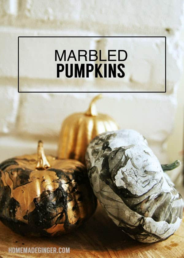 marbled pumpkin diy tutorial